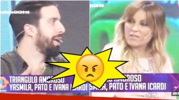 El cruce entre Flavio Azzaro y Marcela Tauro en El Debate de Gran Hermano 2016 (Fotos: Captura)