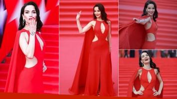 Natalia Oreiro, una diosa al rojo vivo en el el Festival de Cine de Moscú (Foto: redes sociales)