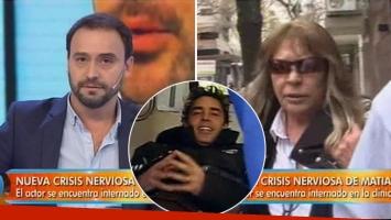El enojo de Adrián Pallares con la mamá de Matías Alé: