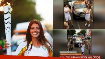 Calu, tras las críticas que recibió por llevar la antorcha olímpica (Foto: web)