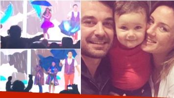 La felicidad de la hija de Paula Chaves y Pedro Alfonso al ver a Topa (Fotos: Captura y Web)