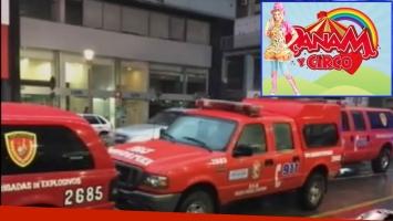 Amenaza de bomba en pleno show de Panam (Fotos: Captura y Web)
