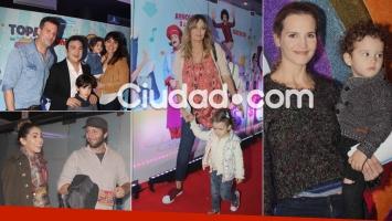 Los famosos disfrutaron con sus hijos del show de Topa (Foto: Movilpress)