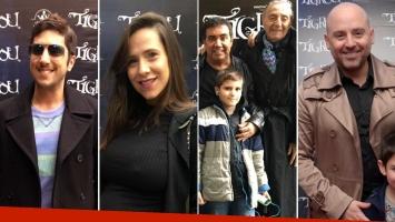 Jey Mammon, Julieta Camaño, Diego Pérez, Tristán y José María Muscari en el estreno de Tigrou. (Foto: Ale Benevento)