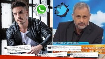 Fede Bal apuntó furioso contra Rial en Twitter.