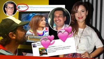 Pedro Alfonso mirando por televisión ¿a su cuñada Mariana Brey? (Foto: Twitter y web)