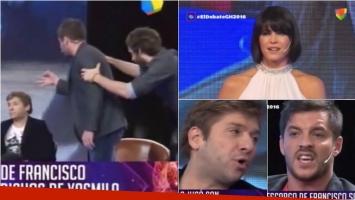 La pelea de Gastón Trezeguet y Francisco Delgado en El Debate de GH. Foto: Captura