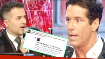La aclaración de Fernando Carrillo a Ángel de Brito tras ponerle