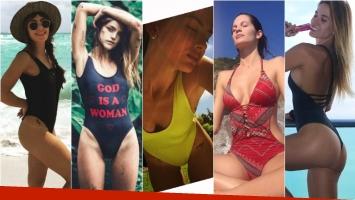 Las famosas eligen la malla enteriza. Fotos: Instagram