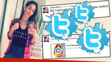 ¿A quién espía Jimena Barón en Twitter? (Foto: web y Twitter)