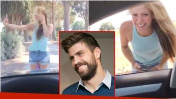 Los divertidos comentarios de Piqué mientras Shakira intentaba sacarse una selfie (Fotos: Captura y Web)