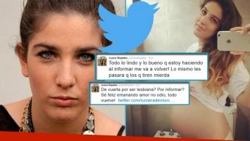 Juana Repetto y un nuevo y agresivo cruce con seguidores en Twitter.