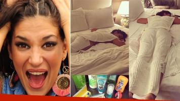 Silvina Escudero y su foto en Instagram, insolada en Miami.