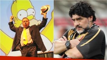 La voz de Homero Simpson le contestó a Diego Maradona. Foto: Web