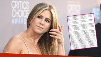 Jennifer Aniston y un fuerte mensaje público