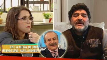 El abrazo del alma de Diego Maradona a Malena Guinzburg en el peor momento de su vida