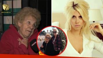 La abuela recordó el video hot, y Wanda Nara se defendió en Infama: