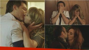 El beso de Adrián Suar y Florencia Bertotti en Silencios de familia. Foto: El Trece