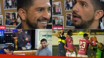 La reacción del hijo de Ramón Díaz al enterarse en vivo que Boca se estaba quedando afuera de la final de la Copa Libertadores.