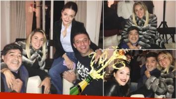 El festejo de cumpleaños de Rocío Oliva con Diego Maradona (Fotos: Ciudad.com)