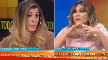 Marcela Tauro duda del embarazo de Flor Maggi y se lo dijo en vivo.