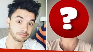 Agustín Casanova, antes y después de afeitarse. (Foto: Instagram)