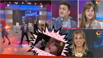 La felicidad de la hija de Mariana Fabbiani por la visita de Topa a El diario de Mariana. Foto: Captura