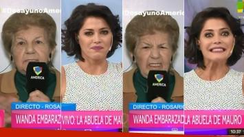 El móvil fallido de la abuela de Mauro Icardi en Desayuno Americano (Foto: Web)