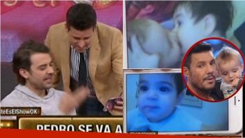 La reacción de Pedro Alfonso cuando ve a su hija Olivia besarse con el hijo de Listorti. Foto: Captura