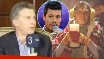 Mauricio Macri habló de su imitación en ShowMatch (Fotos: Captura y Web)