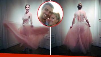 Sofía Zámolo se probó el vestido de novia
