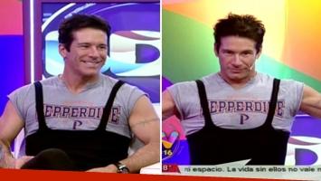 El galán venezolano se presentó en televisión con una prenda que le regaló Julio Bocca.