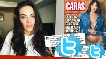 Emilia Attías, tras el debate que generó su decisión de parir sin anestesia (Foto: web y revista Caras)