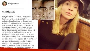 Dallys Ferreira recordó a su hermano con una emotiva carta. Foto: Instagram.