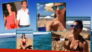Delfina Gerez Bosco y sus vacaciones en Brasil. Fotos: Instagram y Web.