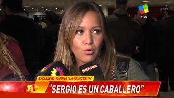 Karina La Princesita habló al regreso de sus vacaciones con el Kun Agüero.