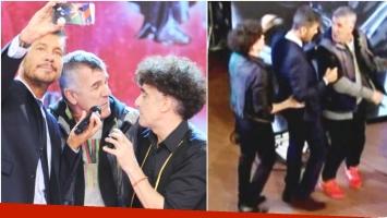 Favio Posca y Dady Brieva le cantaron a Marcelo Tinelli en  ShowMatch (Fotos: Prensa Ideas del Sur y Web)