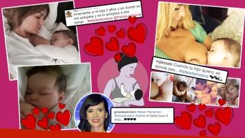 Las famosas que están a favor de la Teteada Masiva (Foto: Instagram)