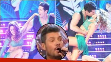 El tremendo beso de Fernando Carrillo y Mariana Brey en ShowMatch (Fotos: Prensa Ideas del Sur)
