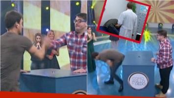 El accidente de Nico Vázquez en Como al dedo. Foto: Captura