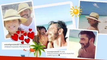 Las románticas vacaciones de Araceli González y Fabián Mazzei (Foto: Instagram)