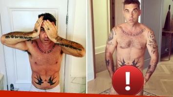 Robbie Williams se desnudó por completo para celebrar sus 42 años