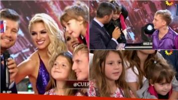 El Polaco presentó a sus hijas Sol y Alma en ShowMatch. Foto: Captura