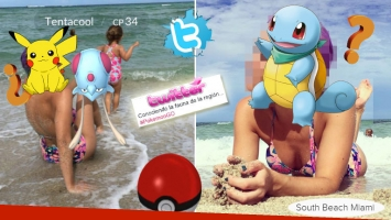 ¡Atrapalo! La primera famosa argentina en cruzarse con un Pokémon.