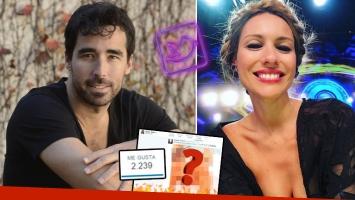 """El (muy) pícaro """"me gusta"""" de Nacho Viale a una foto hot de Pampita. (Foto: Web)"""
