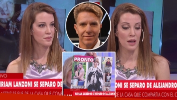 Miriam Lanzoni, angustiada tras confirmar una crisis con Fantino (Foto: Web)