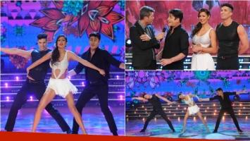 Pamela Sosa bailó la salsa de tres en ShowMatch con el Nico Repetto de Roberto Peña. Foto: Ideas del sur