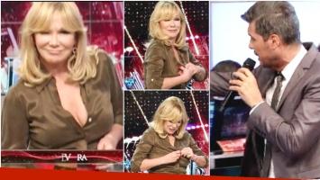 El blooper hot de Soledad Silveyra en Showmatch (Fotos: Captura)