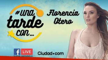 Flor Otero en #UnaTardeCon, por Facebook Live de Ciudad.com.