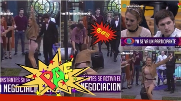 El blooper de Barbara tras quedar eliminada de Gran Hermano 2016 (Fotos: Captura)